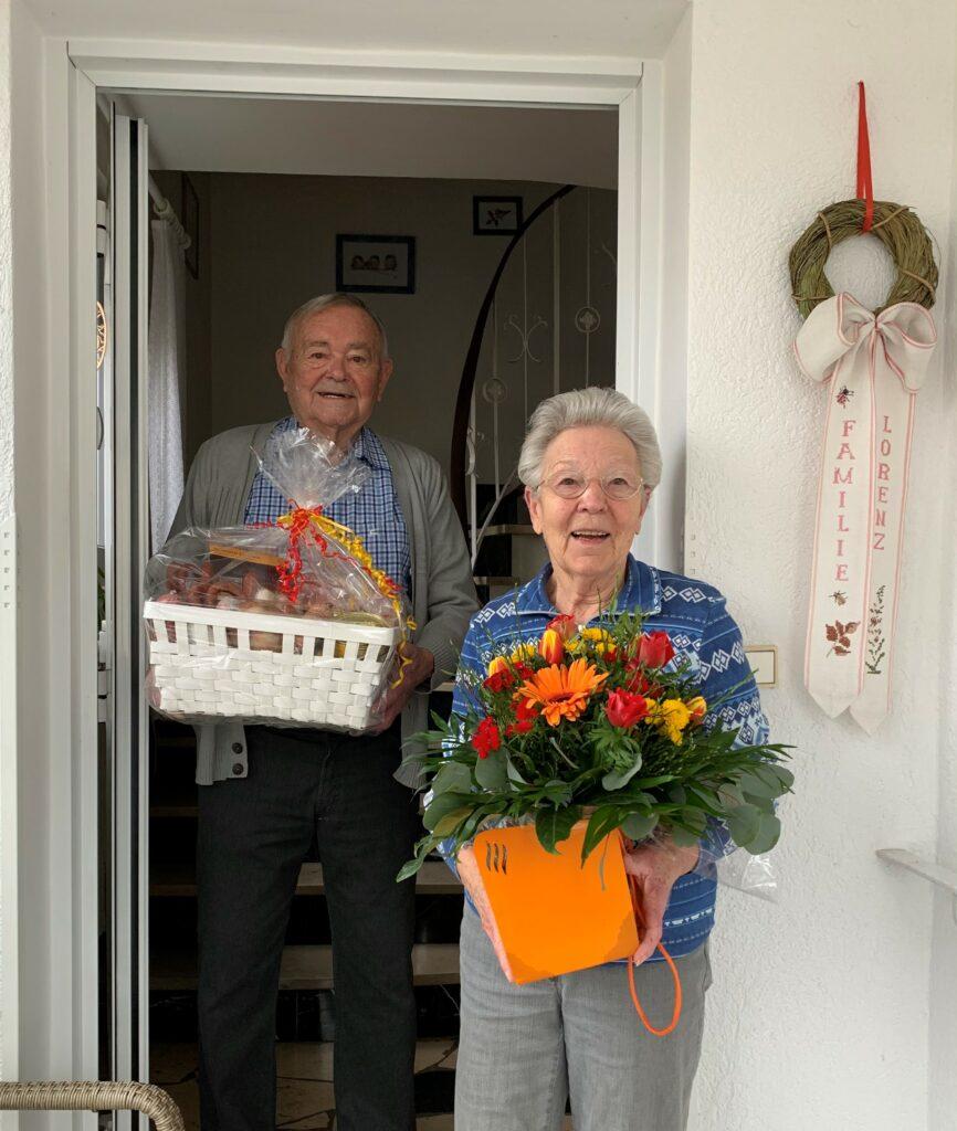 Vorstand der TGS Langenhain e.V. bedankt sich bei Hans und Brigitte Lorenz
